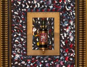 """Массив белого французского дуба 19 в. (регион Бордо), массив золота 1546 г (проба 585), антикварная бутылка с Мадейрой (1912), холст, масло """"Old Holland"""", 80x70. Цена по запросу."""