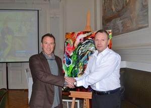 Aleksey Klokov and Gianni Maimeri in Academy of Art