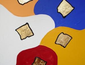Холст, акрил, сусальное золото, 90х70. ПРОДАНО.