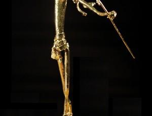 Рельсовая сталь, золото 999.9, 57 см. ПРОДАНО.