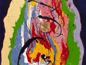 Холст, акрил, эмаль по фарфору, сусальное золото, 90x70. Цена по запросу.