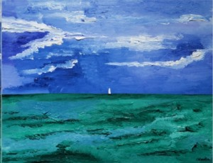 Canvas, oil, 70x270. SOLD.
